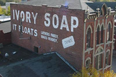 The old Ivory Soap ad on Main Street